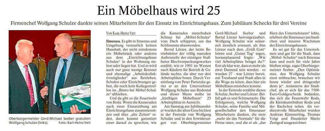 Alle feiern mit: 25 Jahre Einrichtungshaus Schulze in Ilmenau ...