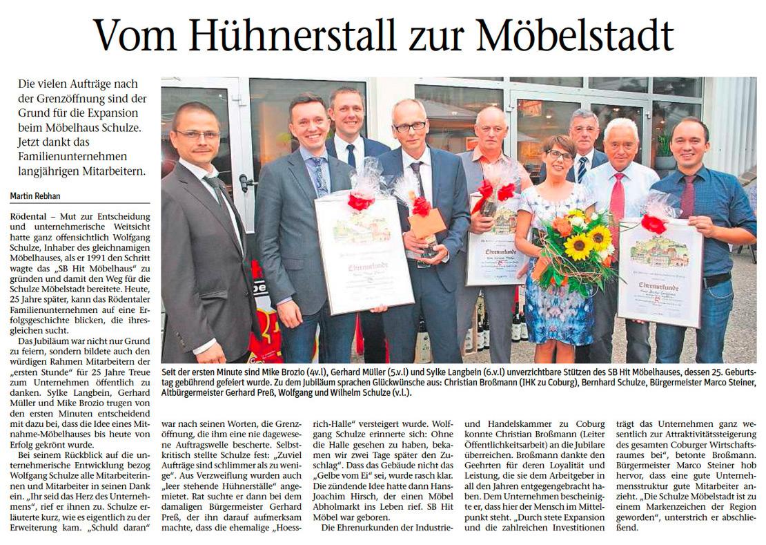 Noch ein Geburtstag in der Möbelstadt - Möbel Schulze