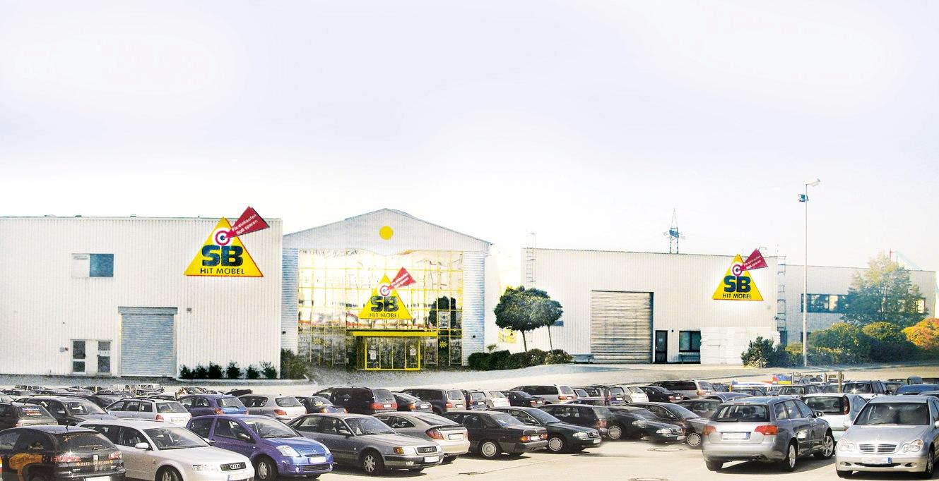Chronik - Möbel Schulze im Jahr 2000 - Umbau SB-Hit Möbelmitnahmemarkt in Rödental