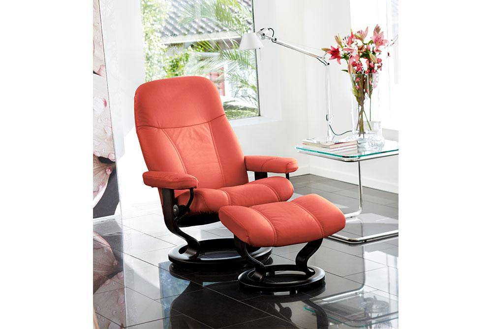 Stressless® Relax Ledersessel mit Hocker