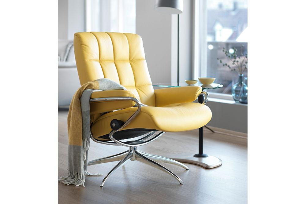 Stressless® Relax Ledersessel gelb