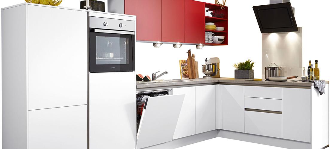 Moderne Winkelküche - Mobile Rödental