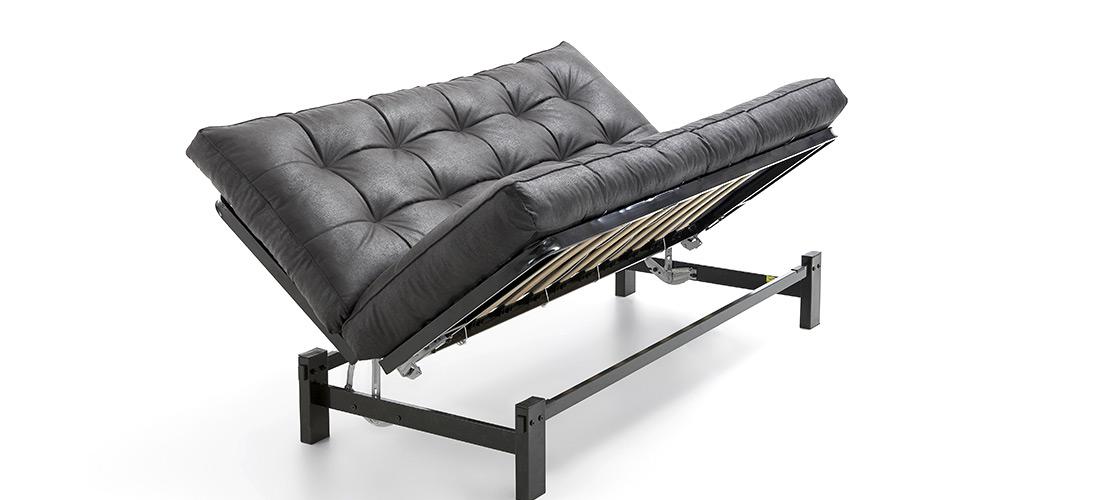 Moderne Ledercouch mit Schlaffunktion - Mobile Rödental