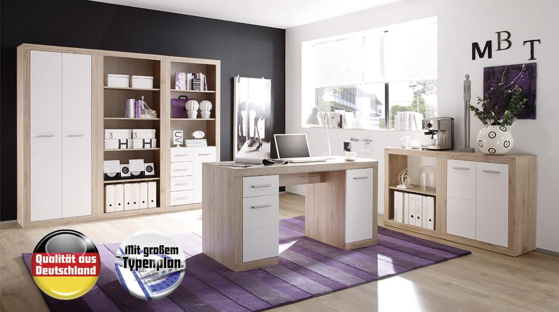 Büromöbel mit weißer Front