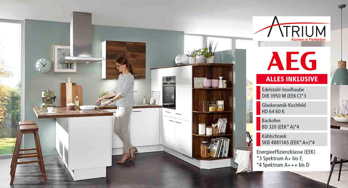 Atrium-Küche   Einbauküche inklusive AEG-Geräte