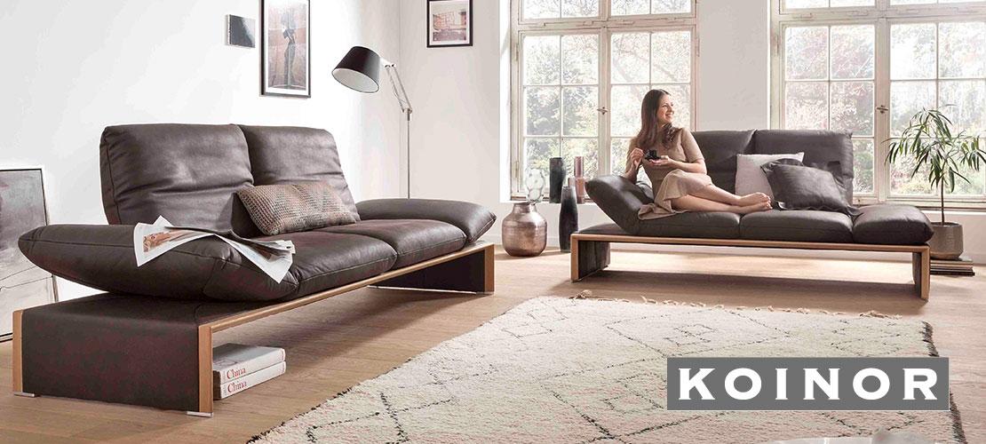 Hochwertige Marken-Polstergarnitur von KOINOR | Lederbezug