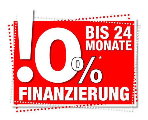 0% Finanzierung - bis 24 Monate
