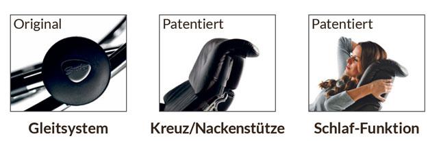 Stressless® - patentierte Funktionen