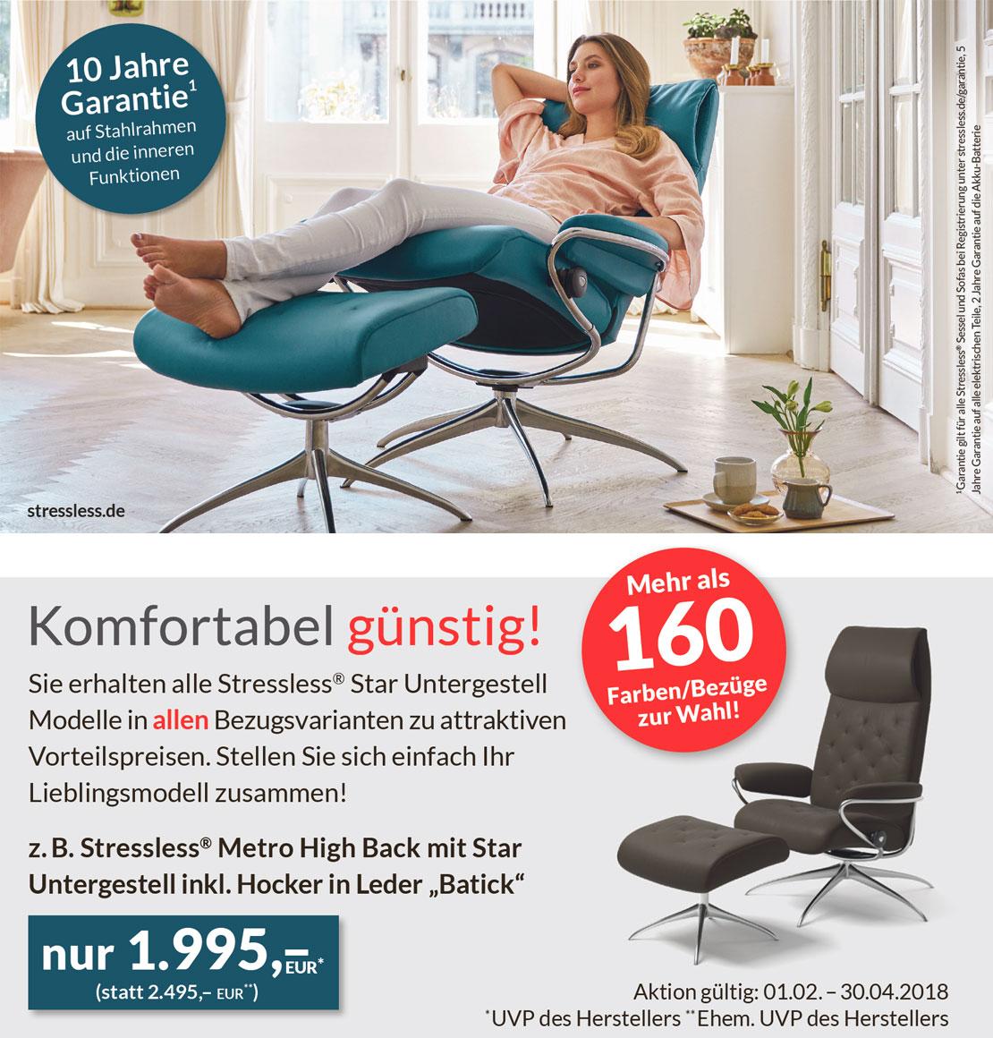 Stressless® Metro High Back mit Star Untergestell | Möbel Schulze