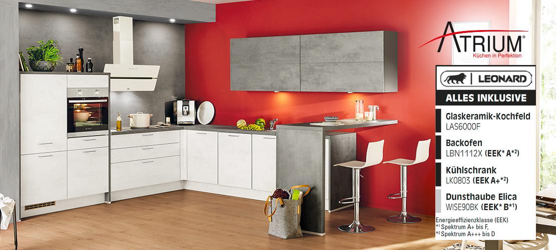 Atrium Einbauküche inklusive Elektrogeräte   Küchenarena Rödental