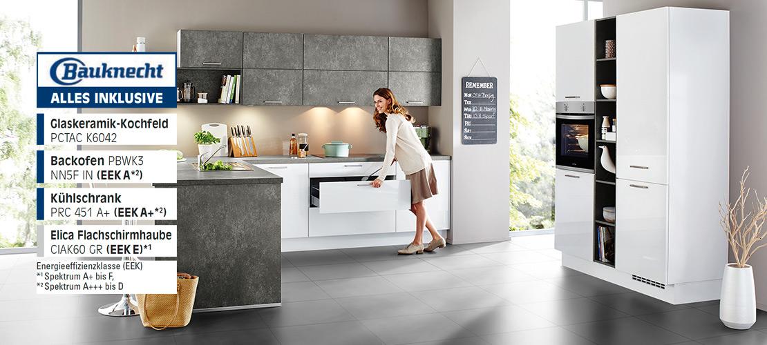 Einabuküche inkl. Elektrogeräte von Bauknecht   Küchenarena Rödental