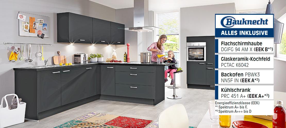 Familienküche inklusive Elektrogeräte von Bauknecht   Küchenarena Rödental
