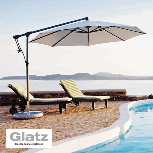 """Praktischer Sonnenschirm """"Sunwing"""" von Glatz"""