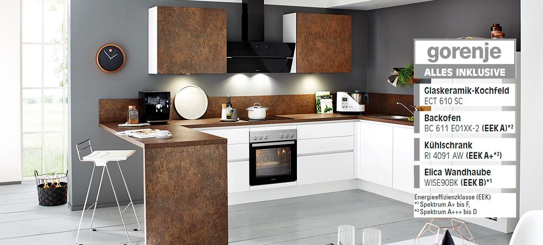 Einbauküche inklusive Elektrogeräte von Gorenje   Küchenarena Rödental