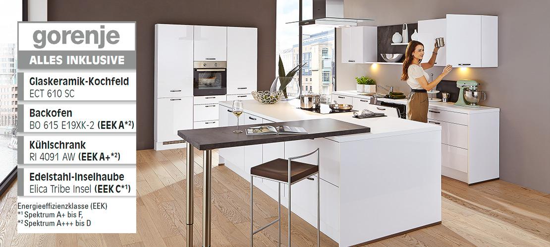 Designküche inklusive Elektrogeräte von Gorenje   Küchenarena Rödental