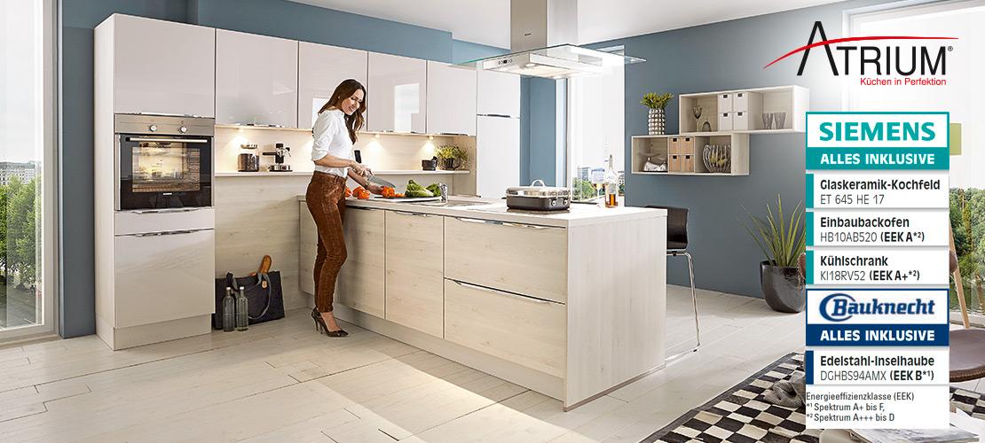 ATRIUM-Einbauküche inkl. Elektrogeräte von Siemens und Bauknecht   Küchenarena Rödental