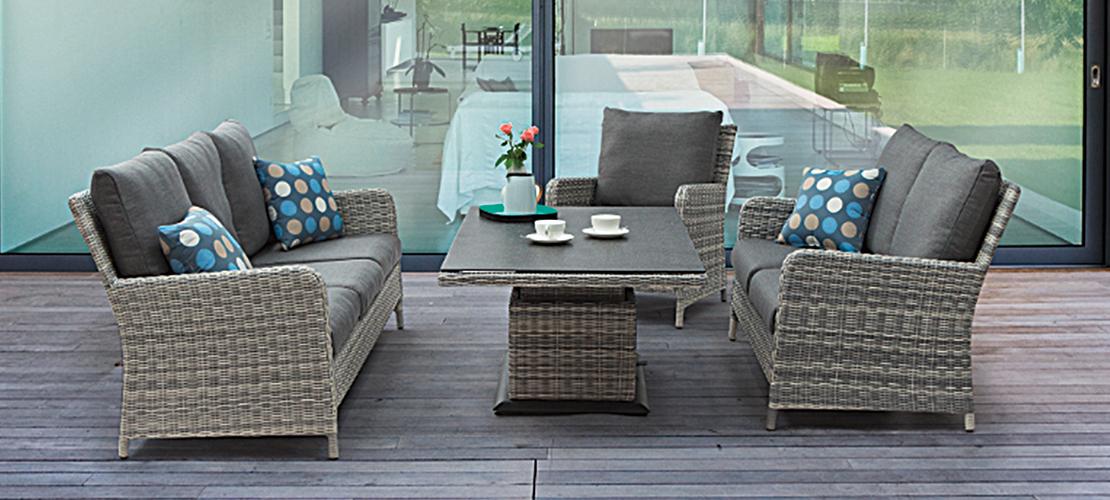 Tischgruppe Geflecht - Gartenmöbel | Möbel Schulze