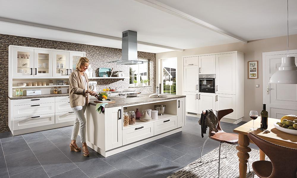 Weiße Atrium Küche - Küchenarena Rödental