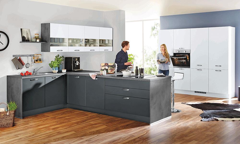 Graue Atrium Küche - Küchenarena Rödental