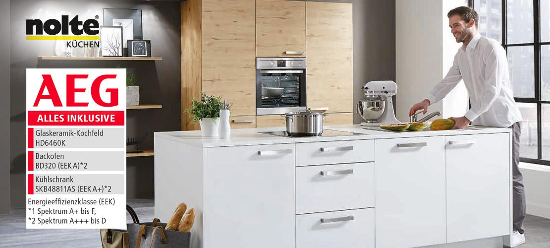 Kompakte Nolte-Einbauküche | AEG-Geräte inklusive