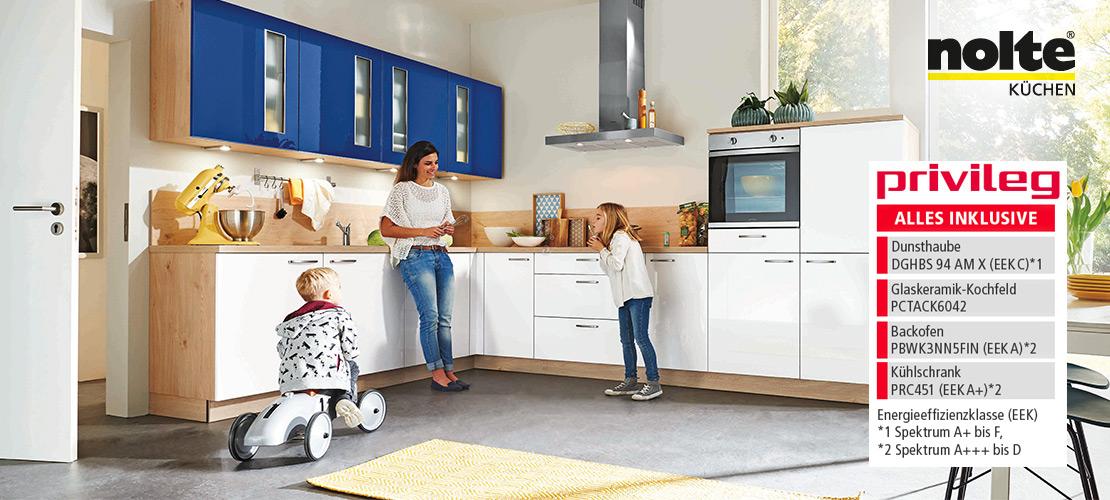 Moderne Familienküche von Nolte | Privileg-Geräte inklusive