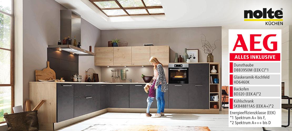 Wohnliche Einbauküche von nolte | AEG-Geräte inklusive