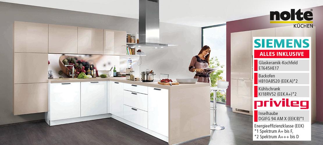 nolte Einbauküche | Siemens- und Privileg-Geräte inklusive