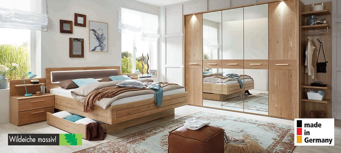 Schlafzimmer komplett   Wildeiche massiv   Möbel Schulze