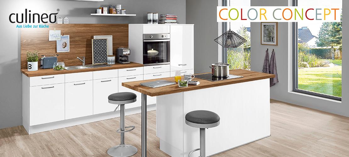 culineo-Inselküche | Bauknecht-Geräte inklusive | Küchen Arena