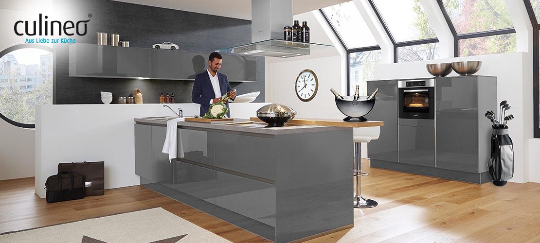 Luxus-Küche von culineo | inklusive Miele- und Bauknecht-Geräte