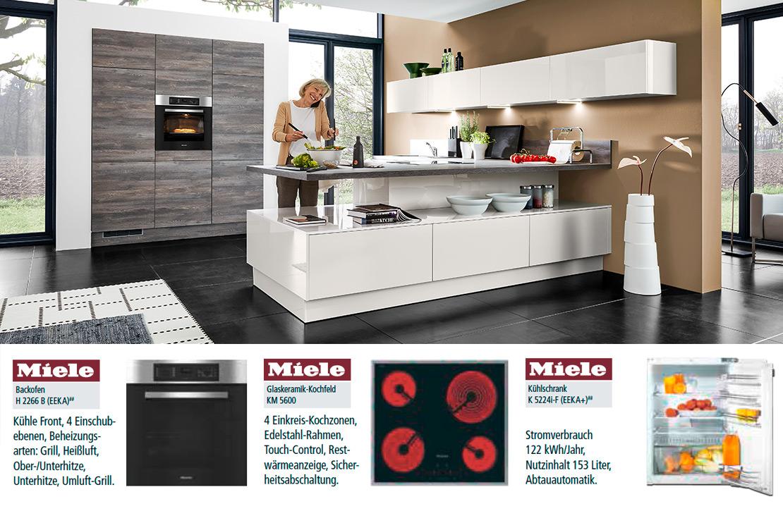 Einbauküche inklusive Miele-Geräte | Küchen Arena