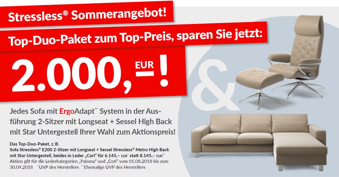 Stressless® Sofa mit Longseat + Sessel High Back