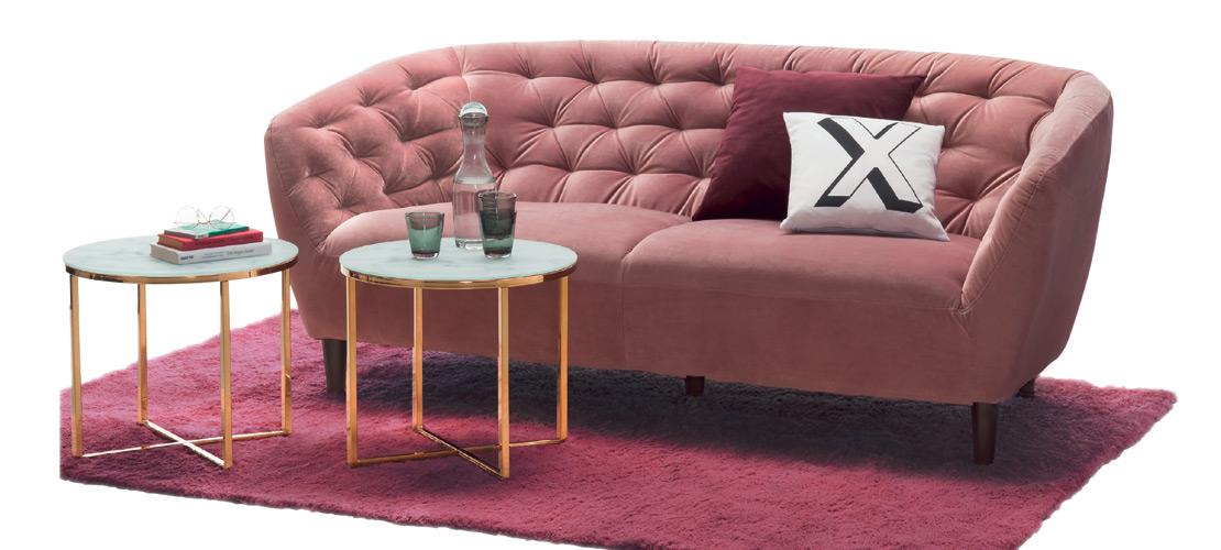 3-Sitzer Sofa   bordeauxfarben   Möbel Schulze