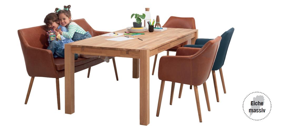 Esszimmer   Esstisch mit Stühlen und Sofabank   Möbel Schulze