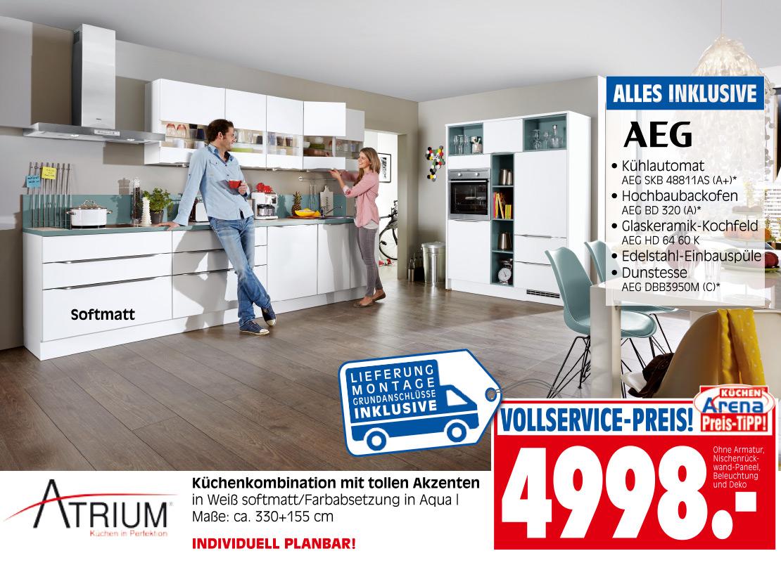 Atrium Küchenkombination in Softmatt-Weiß | Möbel Schulze