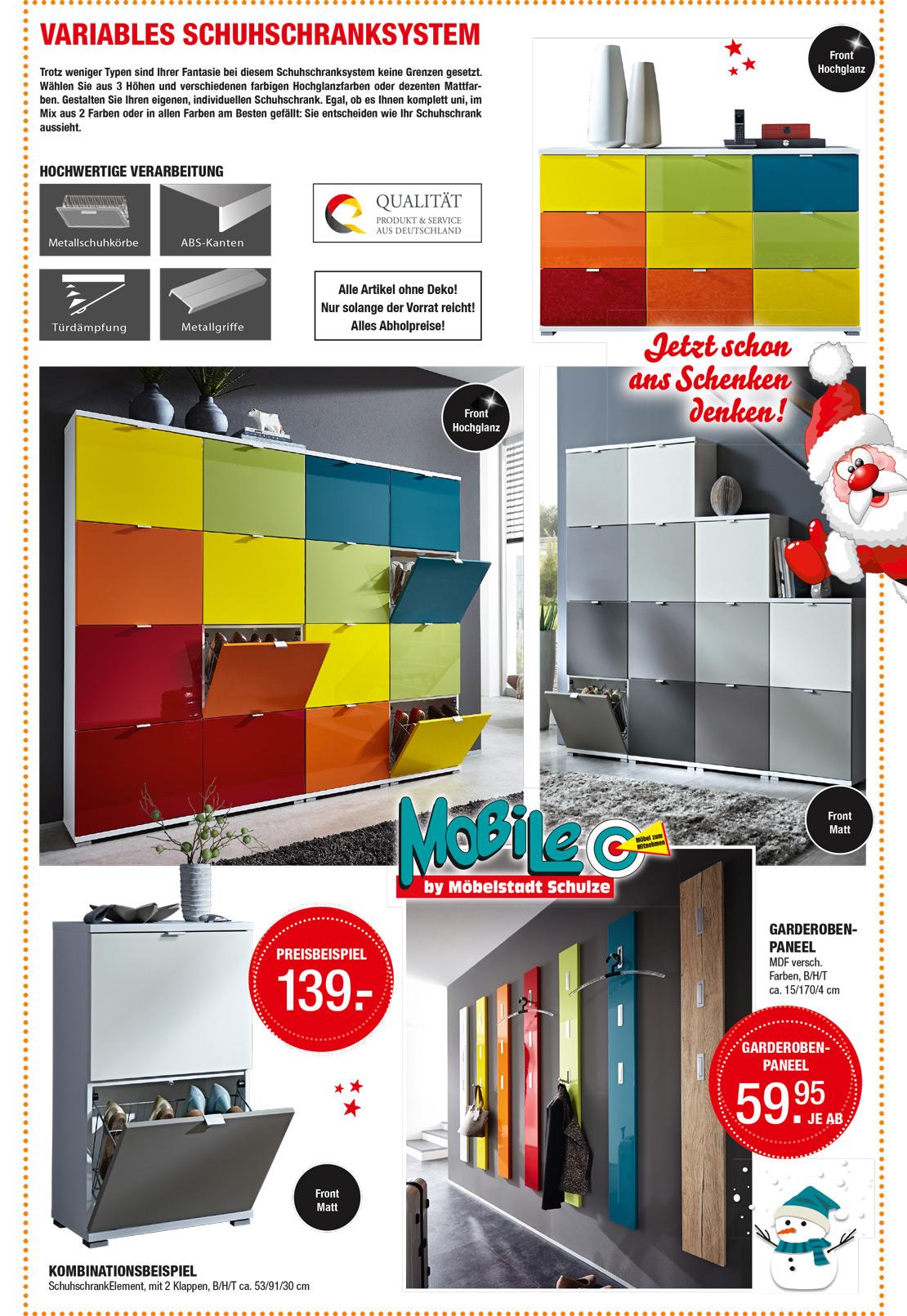 Garderoben- und Flurmöbel in bunter Farben-Vielfalt