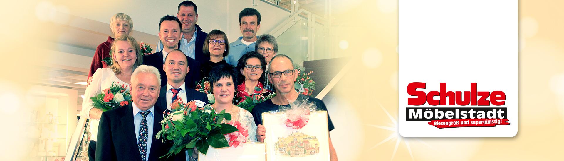 Das Einrichtungshaus Schulze ehrte seine langjährigen Mitarbeiter