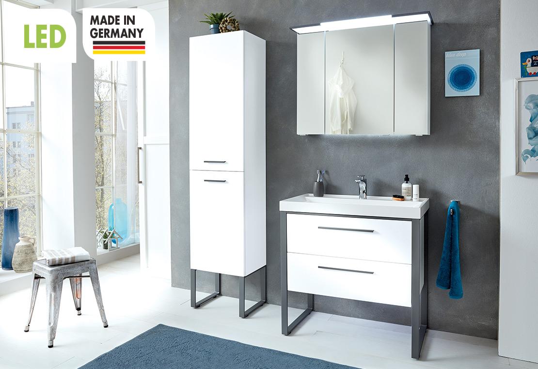 Badmöbel Kombination - Weiß matt Touch | Möbel Schulze