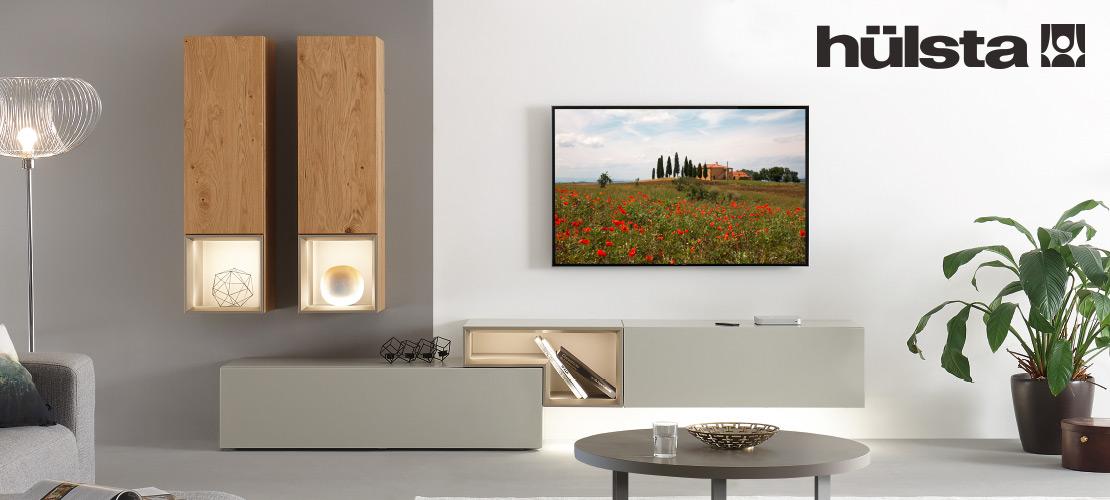 hülsta - Wohnzimmermöbel   Wohnwand aus Natureiche
