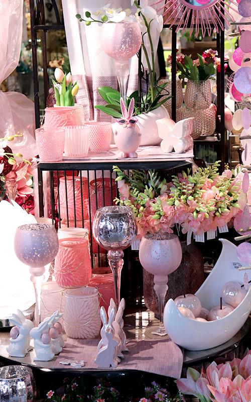 Ostern Dekoration Rosa-Weiß | Möbel Schulze