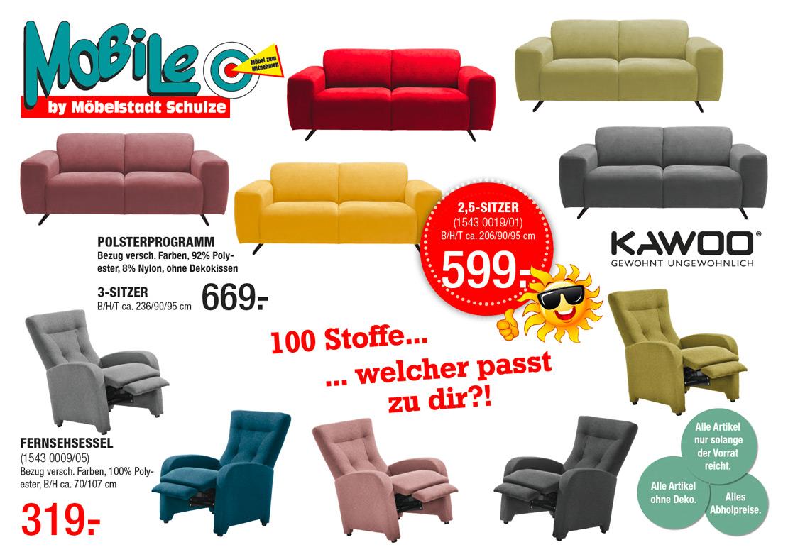 Kawoo Polstermöbel in verschiedenen Farben | MOBILE Rödental