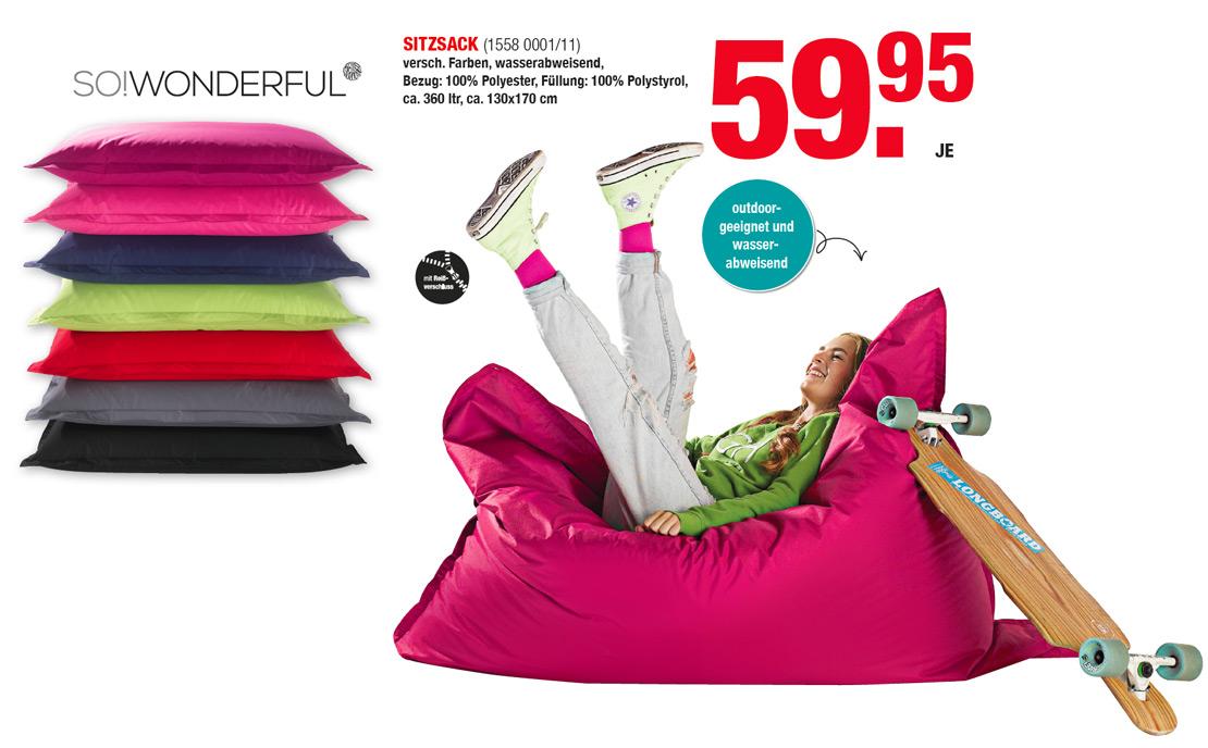 Bunte Sitzsäcke -  Outdoor geeignet | MOBILE Rödental