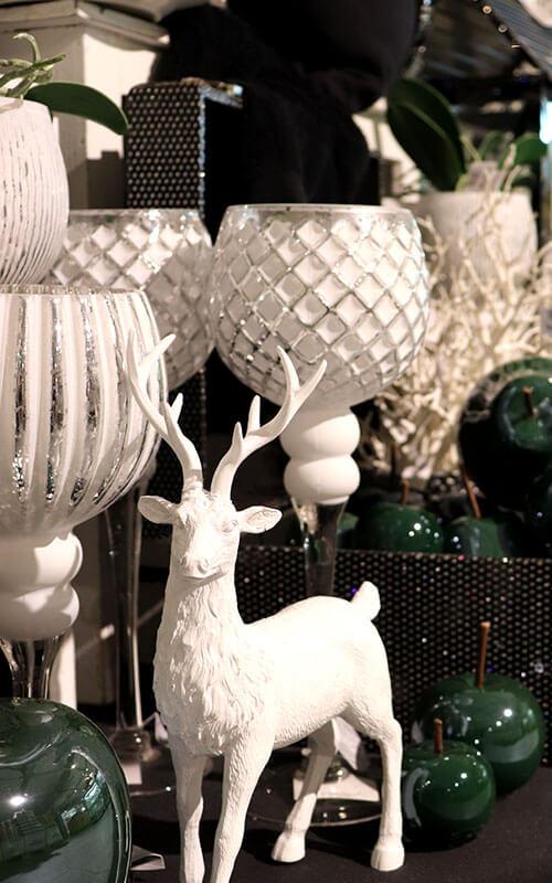 Grün-Weiße Winterdekoration | Möbel Schulze