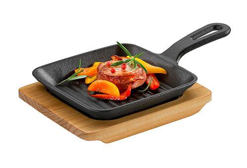 Küchenprofi eckige Grill-Servierpfanne